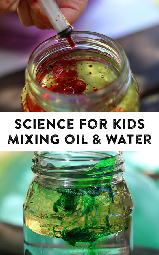 Science for Kids: Oil, Water & Detergent Experiment