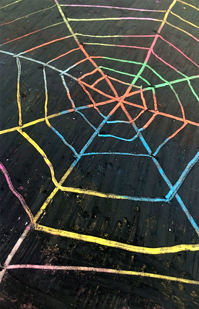 Scratch Art Spider Webs