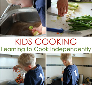 Kids Learning to Cook Independently