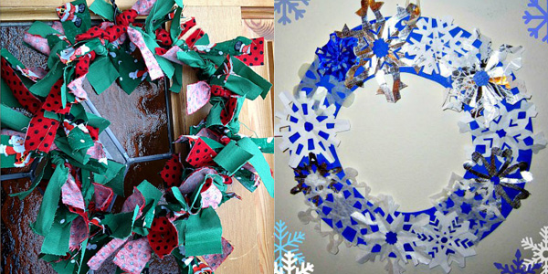 12 Homemade Christmas Wreaths Decoration Ideas