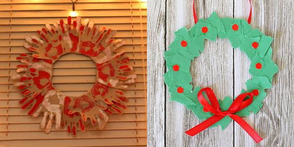 12 Homemade Christmas Wreaths Kids Can Make