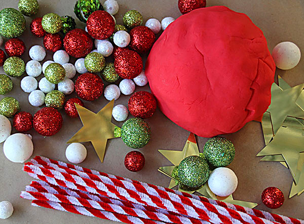 Christmas peppermint playdough recipe and invitation to play