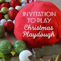 Christmas peppermint playdough recipe