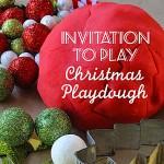 Christmas peppermint playdough recipe
