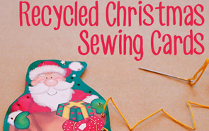 Recycled Christmas Sewing Cards