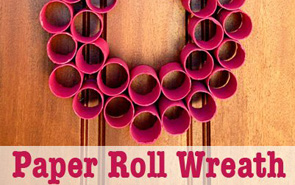 homemade-Christmas-decorations-paper-roll-wreath