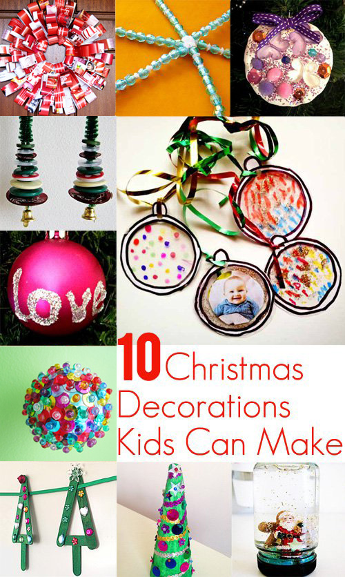 10 christmas decorations kids can make