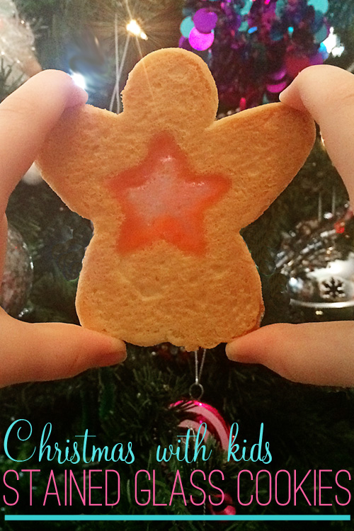 Christmas Stained Glass Cookies & MIlk Recipe: Great for cooking with kids
