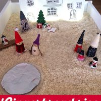 Holiday Sensory Play with Gingerbread Rice