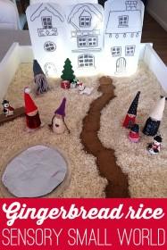 Gingerbread rice sensory small world