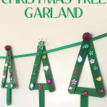 Popstick Christmas Tree Garland Christmas Craft for Kids