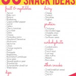 50 lunch box snack ideas for kids printable