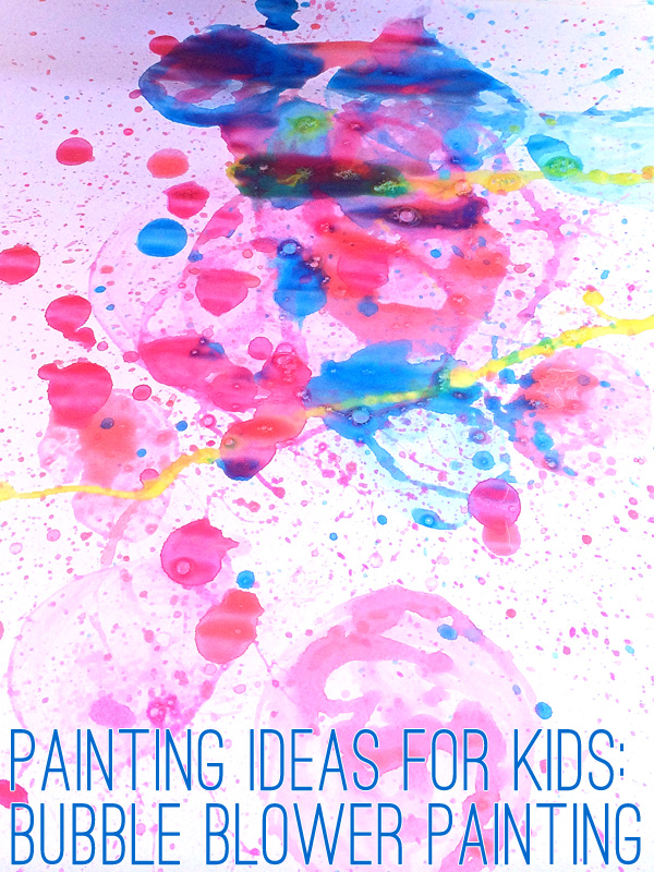 Bubble Painting Activity