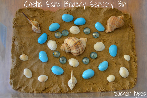 Summer activities: Beach Sensory Bin