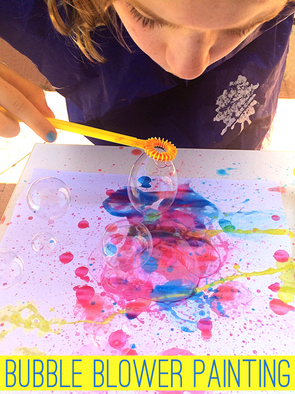 Bubble Painting: Painting Ideas for Kids