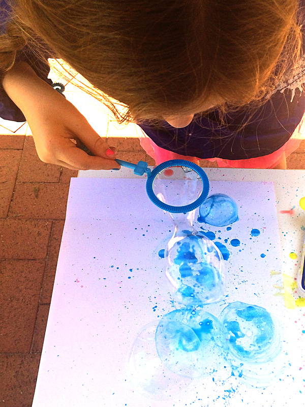Bubble Blower Painting
