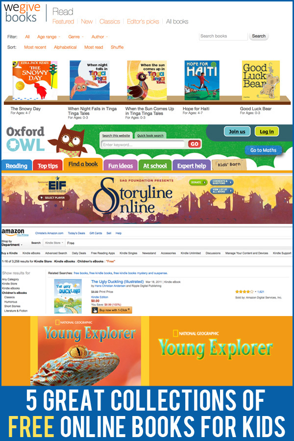 5 Great Collections of Free eBooks for Kids