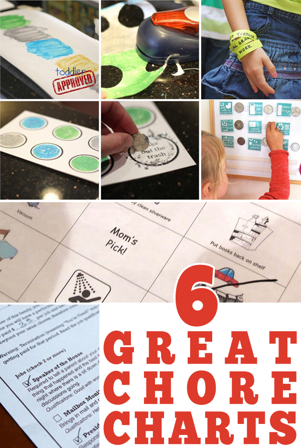 Six for Sunday: 6 Great Chore Chart Ideas