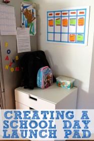 Organising with Kids: Creating a school day launch pad