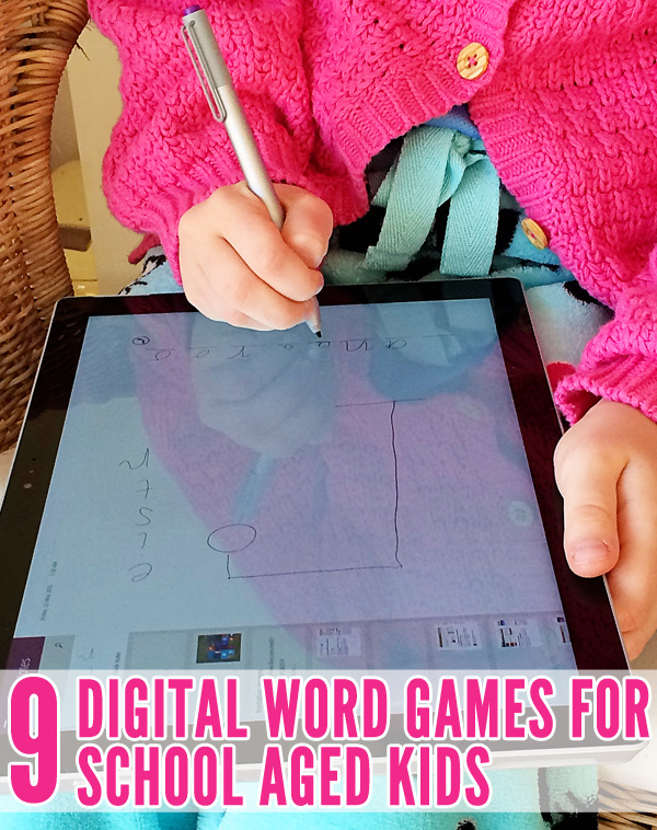 9 Digital Word Games for School Aged Kids