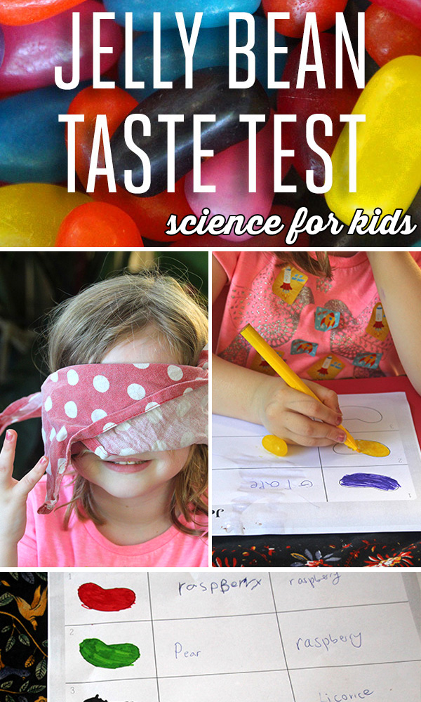 Science for kids: Jelly bean taste test experiment