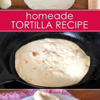 homemade tortilla wrap recipe