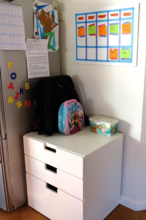 school bag organisation ideas