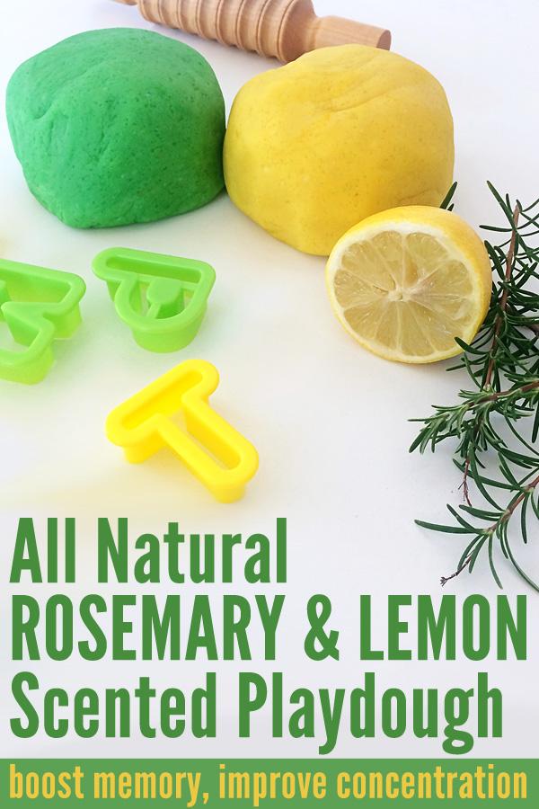 All Natural Homemade Rosemary & Lemon Scented Playdough