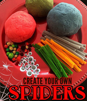 An-invitation-to-play_-Playdough-spiders