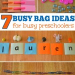 Busy Bag Ideas for Preschoolers
