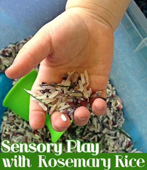 Childhood-101-Sensory-Rosemary-Rice-Play-Activity