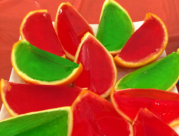Classic party food ideas: Jelly oranges