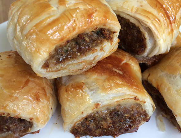 Classic party food ideas: Sausage rolls
