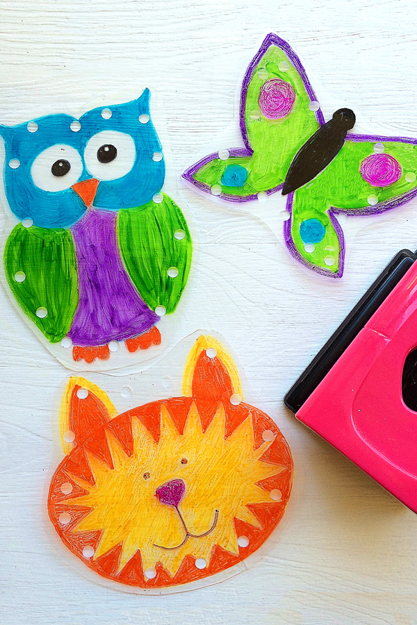 DIY Sharpie sewing cards from recycled takeaway lids