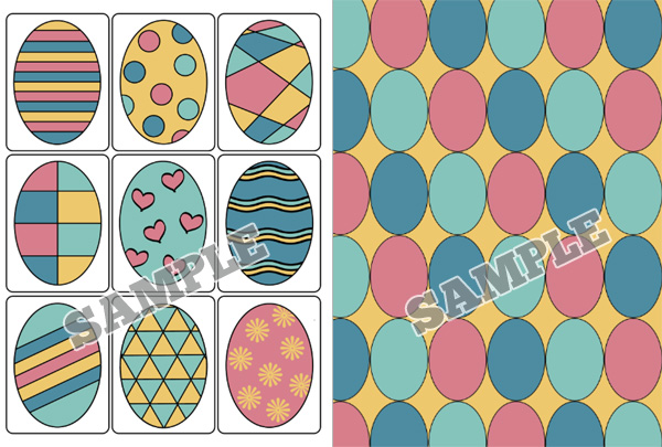 Easter Egg Printable Game Cards