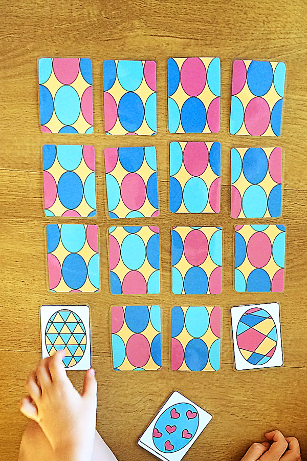 Easter Memory Card Game Printable