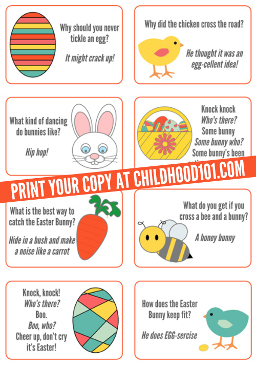 Easter jokes printable