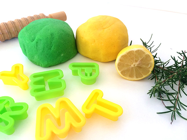 Homemade Rosemary & Lemon Scented Playdough