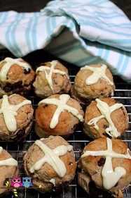 Hot Cross Scones Recipe for Easter. A simpler version of Hot Cross Buns, perfect for cooking with kids.