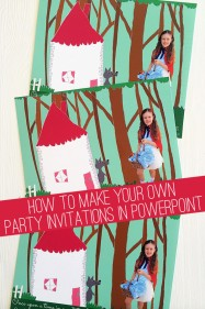How to Make Your Own Personalised Party Invitations