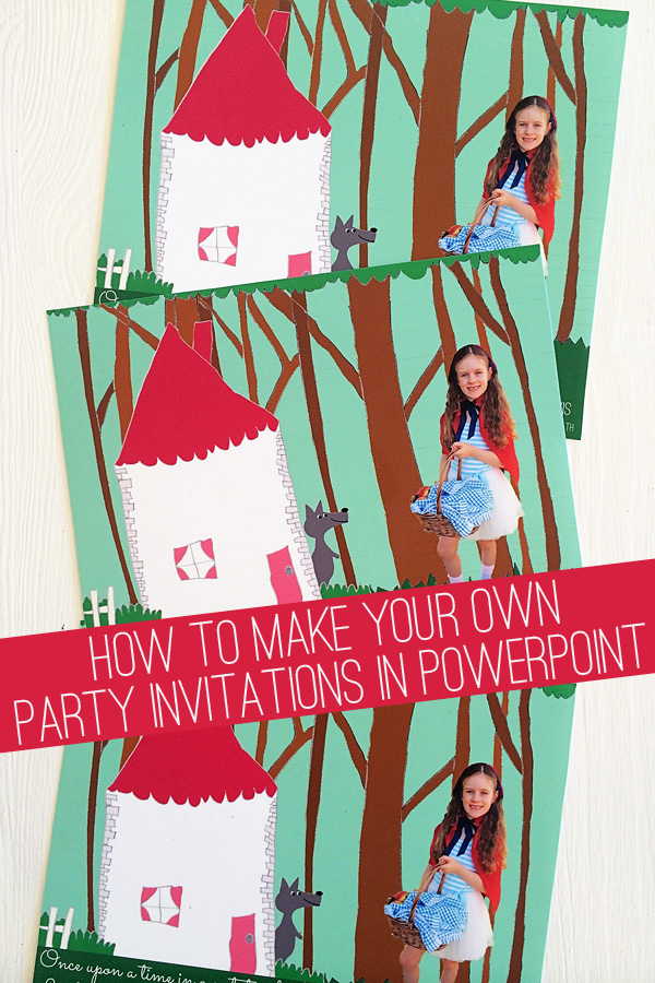 how to make party invitations with powerpoint