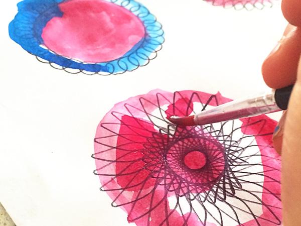 Kids Art Idea: Spiral Art Spring Garden Collage