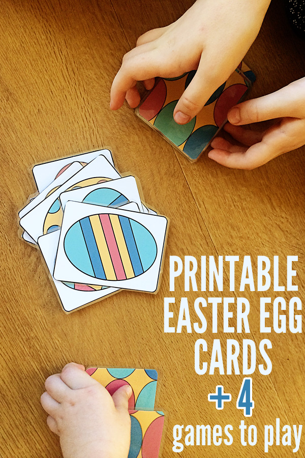 Printable Easter Egg Cards + 3 Ways to Play