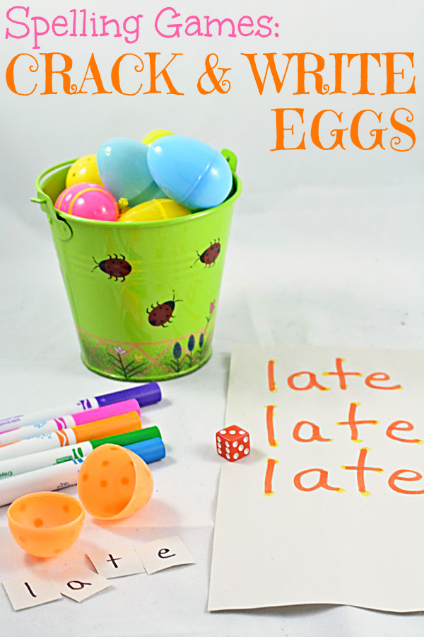 Spelling games: Crack and Write Easter Spelling Eggs