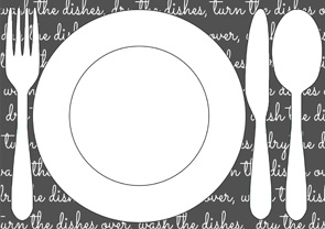 blackboard printable placemat for kids