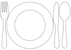 Color in printable placemat to help children set the table ...  sc 1 st  Childhood101 & Kids Chores:Printable Table Setting Placemats