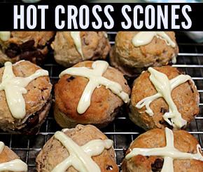hot cross scones