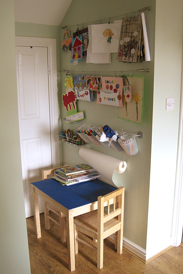 Our Play Space: Kitchen Art Corner