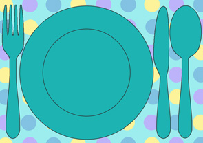 polka dot printable placemat : table setting placemat template - pezcame.com