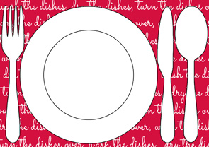 Kids Chores Printable Table Setting Placemats